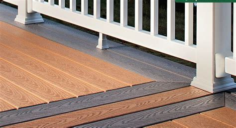 trex select pvc coated composite decking building