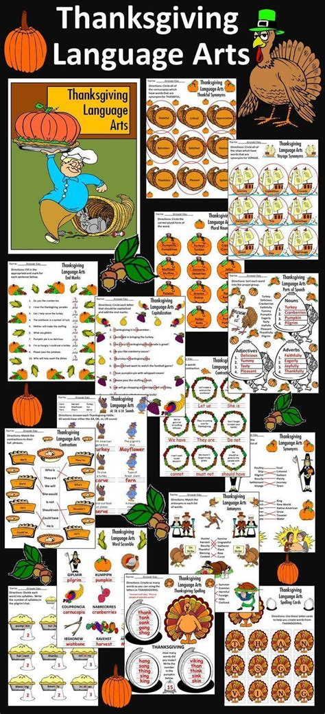 1000 images about thanksgiving language arts ideas on