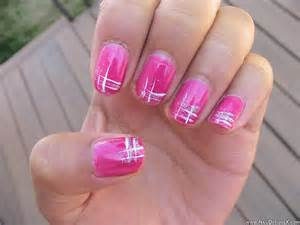 Hot pink nail art designs
