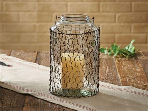 large chicken wire glass jar park designs