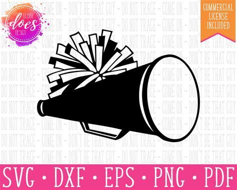 cheer megaphone  pom pom svg file debbie  design