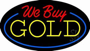 We Buy Gold Animated Neon Sign Pawn Neon Signs