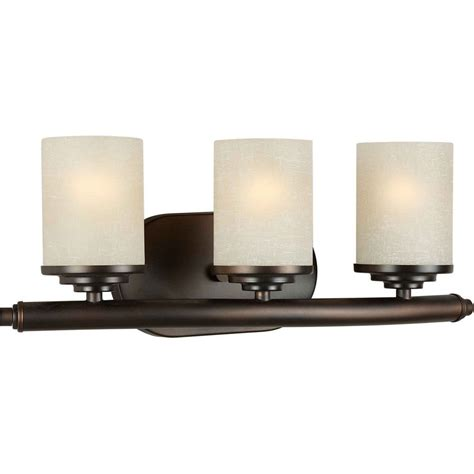 Bathroom Vanity Lights Home Depot by Filament Design Burton 3 Light Wall Antique Bronze