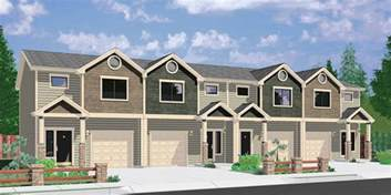 house plans with daylight basement town house and condo plans multi family and townhome