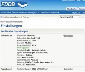 Grundumsatz Berechnen Fddb : zur ck auf start happy carb tagebuch ~ Themetempest.com Abrechnung