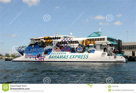 Fast Boat Miami To Bahamas by Ferry Boat Miami To The Bahamas Editorial Image Image