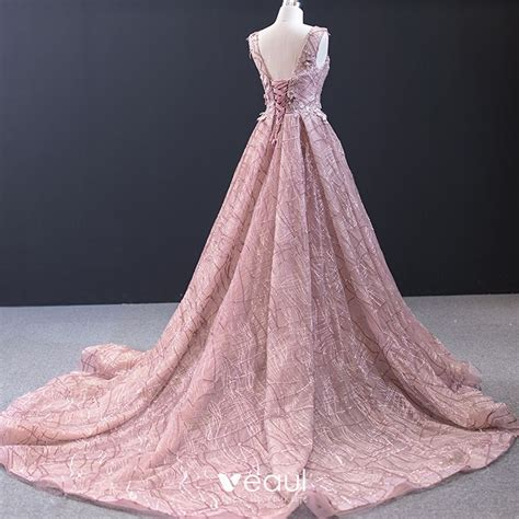 Luxury / Gorgeous Pearl Pink Red Carpet Evening Dresses ...