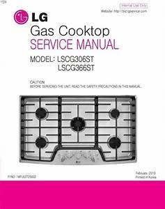 Lg Lscg306st Lscg366st Cooktop Service Manual And