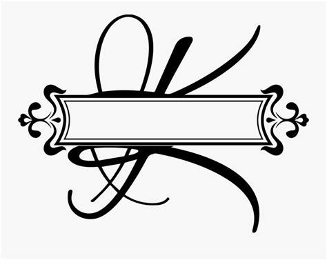 transparent fancy letter  clipart split letter monogram   transparent clipart clipartkey