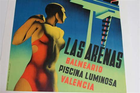 deco posters original original graficas valencia deco poster by josep renau montoro at 1stdibs