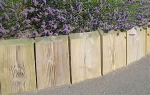 Bordure De Jardin Bois : bordures bois ~ Premium-room.com Idées de Décoration