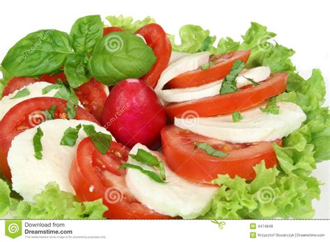 ot cuisine italienischer salat stockfoto bild rettich kopfsalat