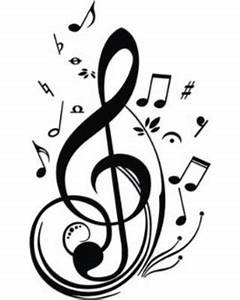 Bargains on Treble Clef Musical Notes Wall Sticker, Black