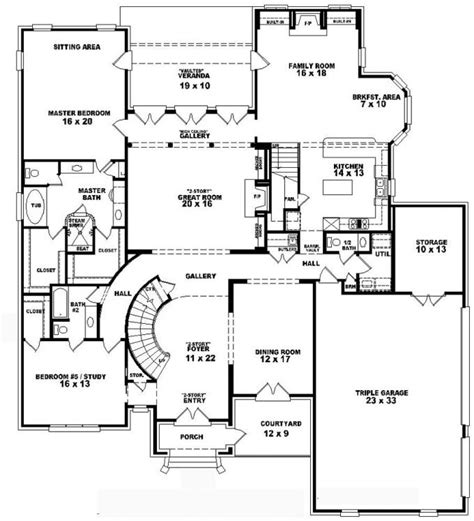 two story home floor plans 653749 two story 4 bedroom 5 5 bath style house plan house plans floor plans home