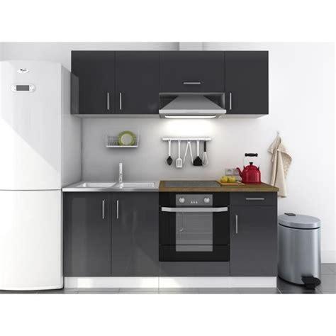 cuisine gris laqué evo cuisine complète 1m80 gris laqué haute brillance