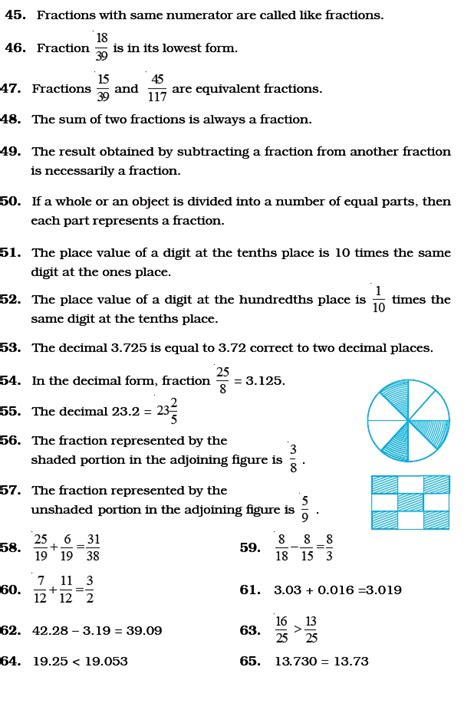 Class 6 Important Questions For Maths  Fractions And Decimals  Aglasem Schools