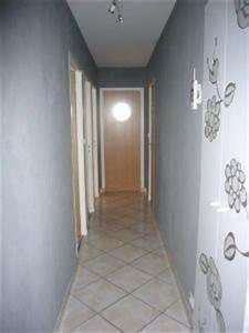 Couloir Gris Et Blanc : porte d 39 entr e et couloir d co maison ~ Melissatoandfro.com Idées de Décoration