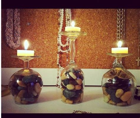 wine glass candles  holders   diy guide patterns