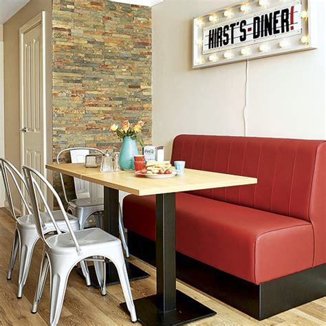 Retro Kitchen Ideas by Retro Kitchen With Banquette Seating And Light Fixture