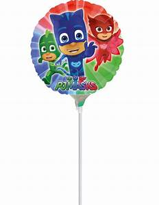 Partydeko Auf Rechnung : aluminium ballon auf stiel pj masks 23cm partydeko und g nstige faschingskost me vegaoo ~ Themetempest.com Abrechnung