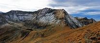 Moldoveanu-Spitze In Fagaras-Bergen, Rumänien Stockbild ...