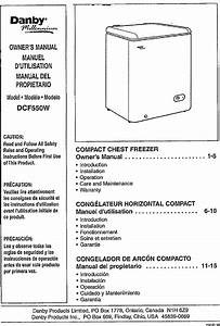 Danby Dcf550w User Manual Freezer Manuals And Guides L0712256