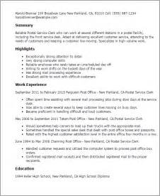 post office resume exles professional postal service clerk templates to showcase your talent myperfectresume