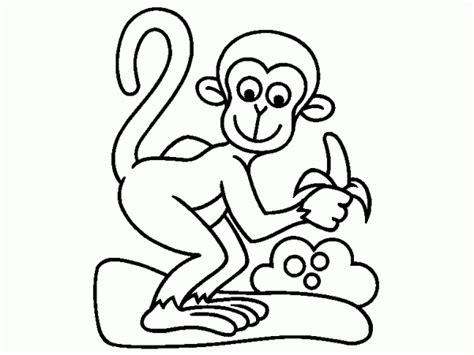 desenhos de macacos macaco a sua banana colorir desenhos