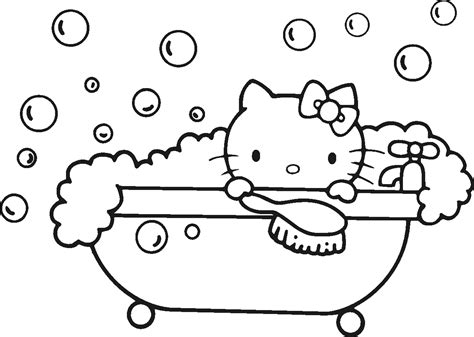 Hello Kitty Coloring Pages Kidsuki