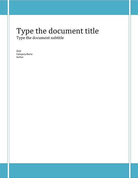 Cover Page Template by 6 Report Cover Template Bookletemplate Org