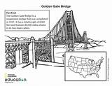 Bridge Gate Golden Coloring Suspension Geographic National Society States United Nationalgeographic Illustration Visit Facts Famous sketch template