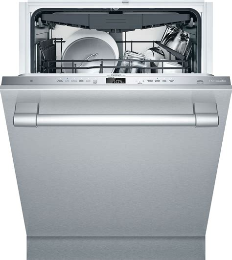 dwhdwfp thermador emerald series  dishwasher  db stainless steel professional handle