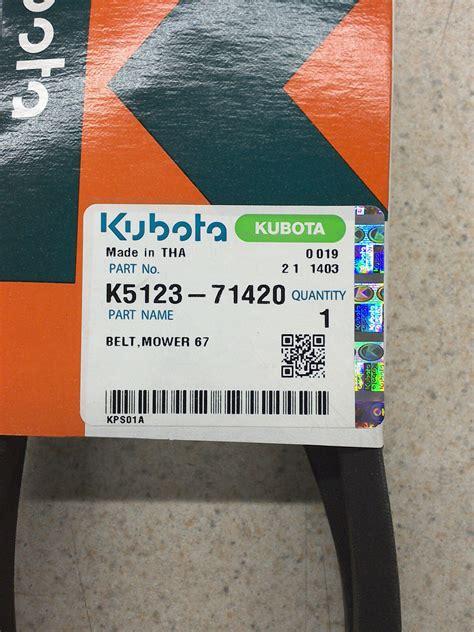 kubota deck drive belt   engine  deck belt