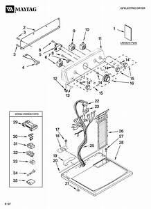 Maytag Model Med5740tq0 Residential Dryer Genuine Parts