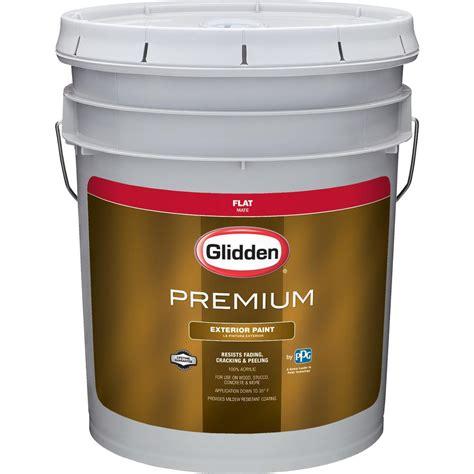 glidden premium 5 gal flat exterior paint gl6112 05