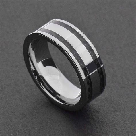 black mens wedding rings 15 best ideas of black and silver wedding bands 1859