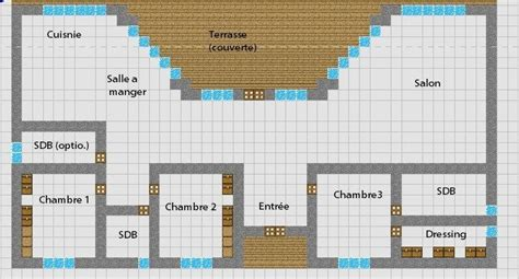 minecraft floor plan simple modern house   bedrooms