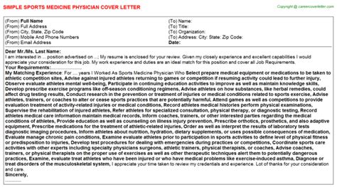 sports cover letters samples