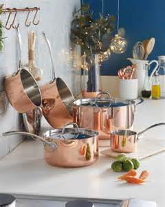 aldi  copper cookware give  kitchen designer style   price tag real homes