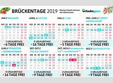 Brückentage 2019 Wie ihr bis zu 79 Tage Urlaub macht