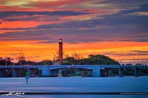 Jupiter Light House by Lighthouse In Jupiter Florida During Beauitful Sunrise
