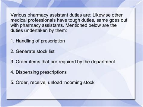 Pharmacist Duties by Things To About Being A Pharmacy Assistant