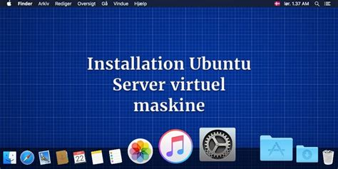 ubuntu bureau virtuel installation ubuntu server virtuel maskine
