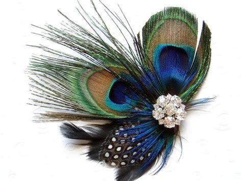 items similar  blue peacock feather hair clip wedding