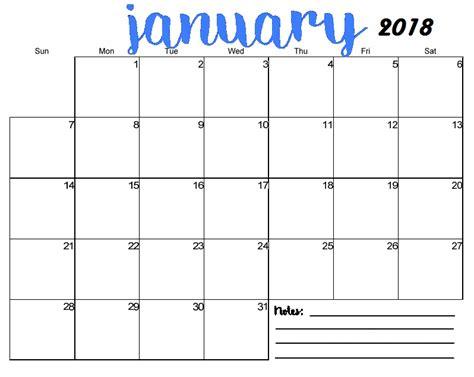 january calendar template printable printable templates