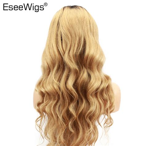 Eseewigs Blonde Ombre Human Hair Wig With Baby Hair 1b27