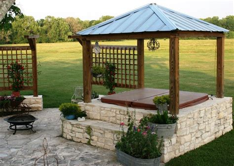 tub gazebo patio traditional with none house stuff