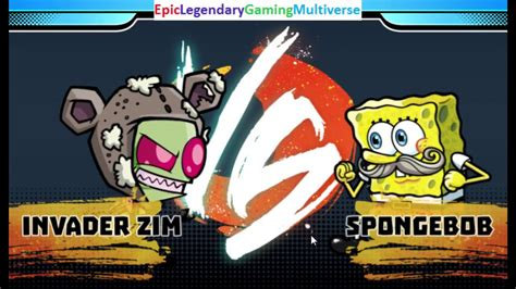 Invader Zim Vs Spongebob Squarepants In A Nickelodeon