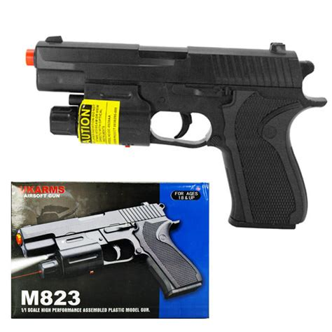 laser light gun m823 airsoft pistol gun with light laser