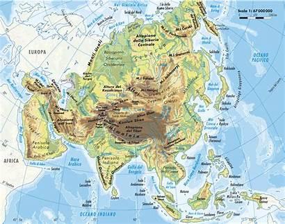 Fisica Asia Cartina Politica Dell Geografica Centrale